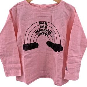 Bobo Choses mellow rose rainbow round neck 2/3 y